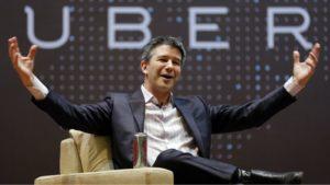 Travis Kalanick le fondateur d'Uber lors d'une conférence